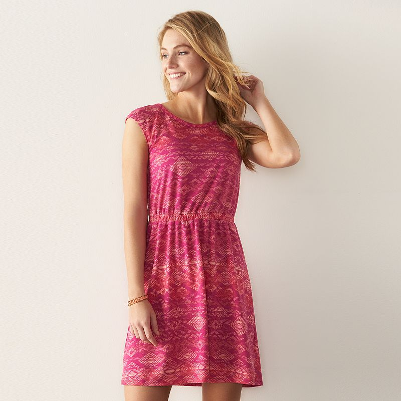 Women's SONOMA Goods for Life™ Crossback Fit & Flare Dress