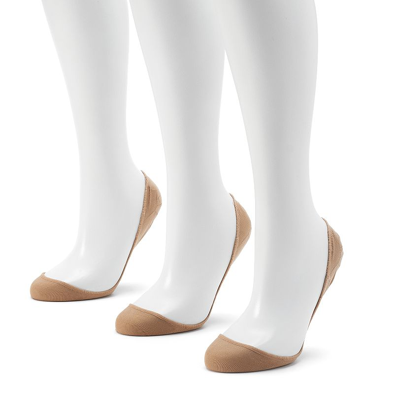 Apt. 9® 3-pk. Extra Low-Cut High Heel Liner Socks - Women