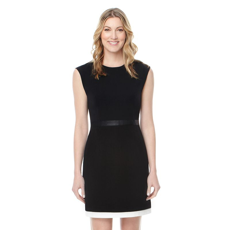 Women's Harve Benard Black Sheath Dress