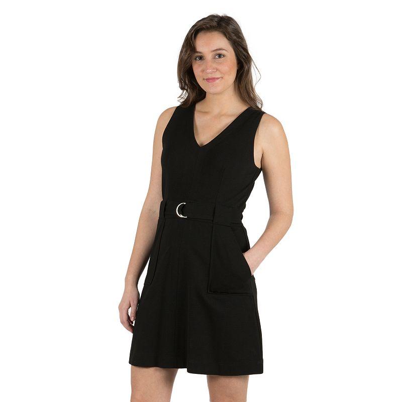 Women's Harve Benard Black Ponte Dress