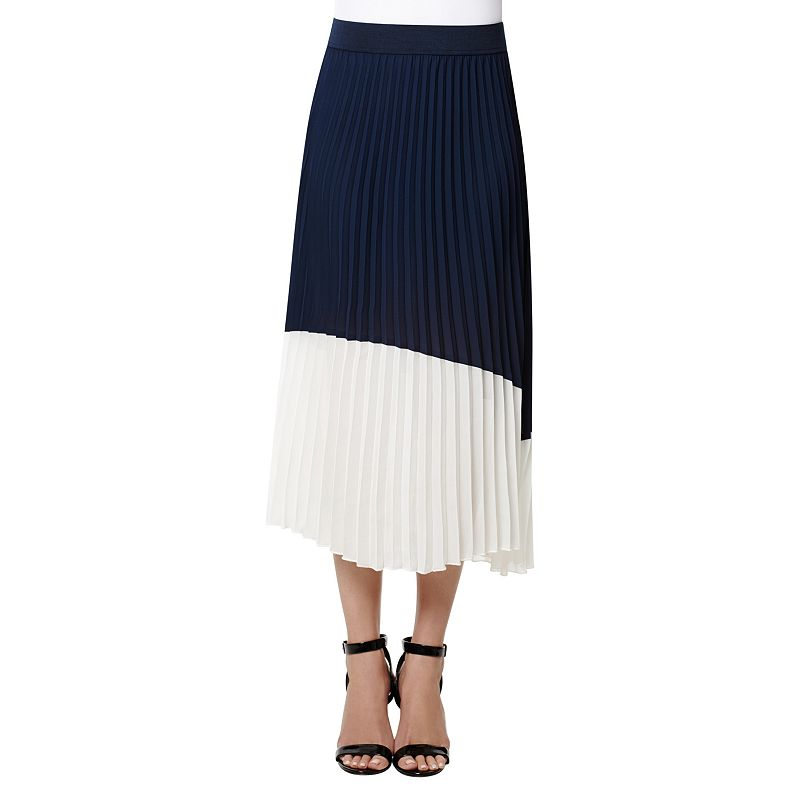 Women's Harve Benard Colorblock Pleated Maxi Skirt