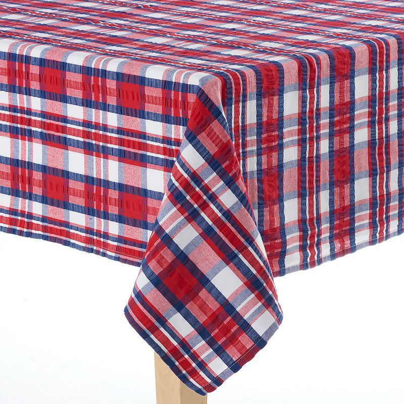 Celebrate Americana Together Plaid Tablecloth