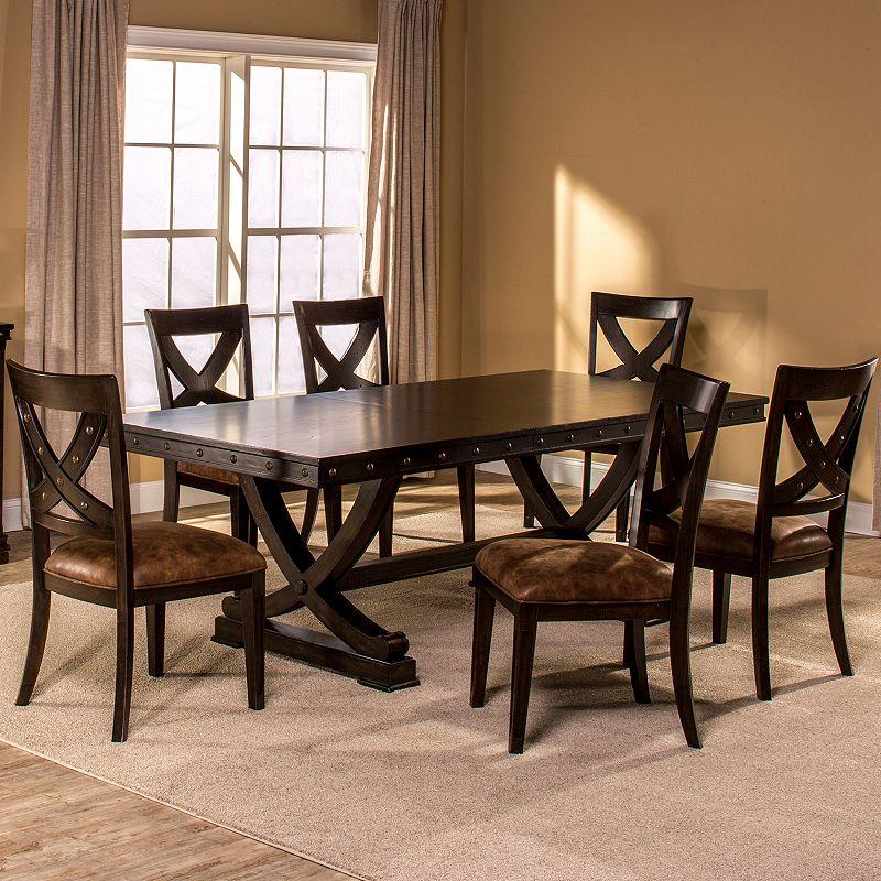 Santa fe trestle 7 piece dining set dealtrend for Dining room furniture specials