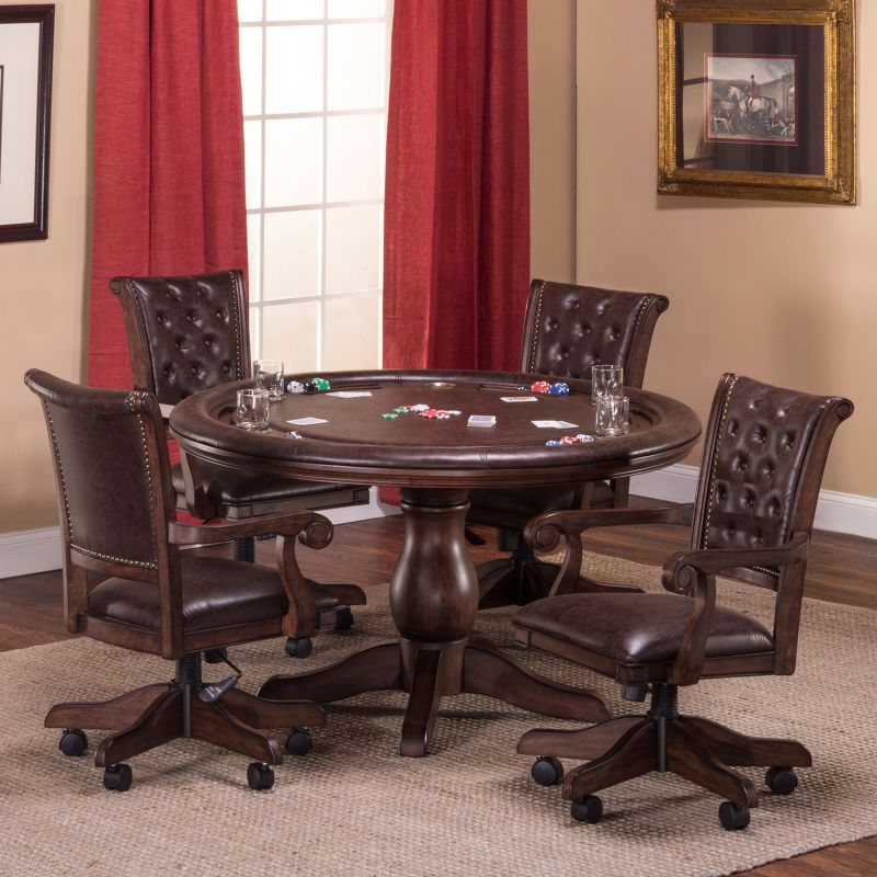 Chiswick Game Table, Brown