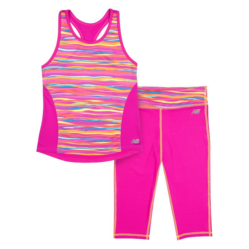 Girls 4-6x New Balance Dry Performance Racerback Tank & Capri Leggings Set
