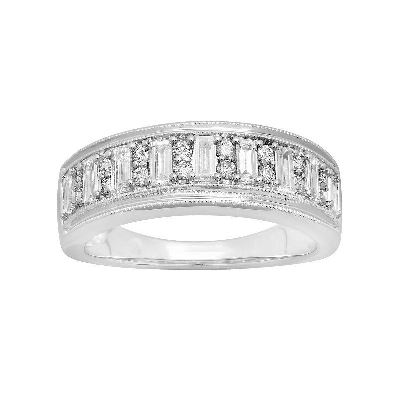 14k White Gold 7/8 Carat T.W. Diamond Ring