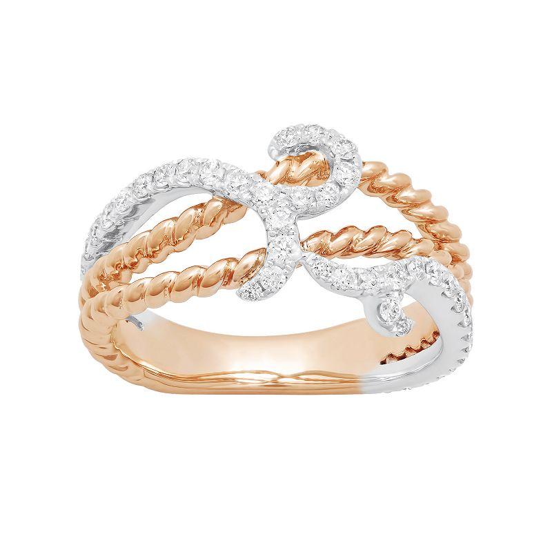 14k Rose Gold 1/2 Carat T.W. Diamond Ring