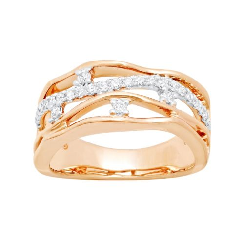 14k Rose Gold 1/3 Carat T.W. Diamond Ring