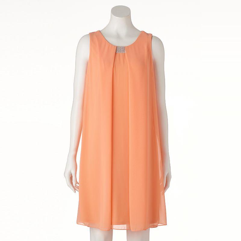 Women's MSK Embellished Chiffon Shift Dress