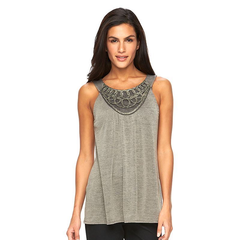 Women's AB Studio Lurex-Embroidered Tank
