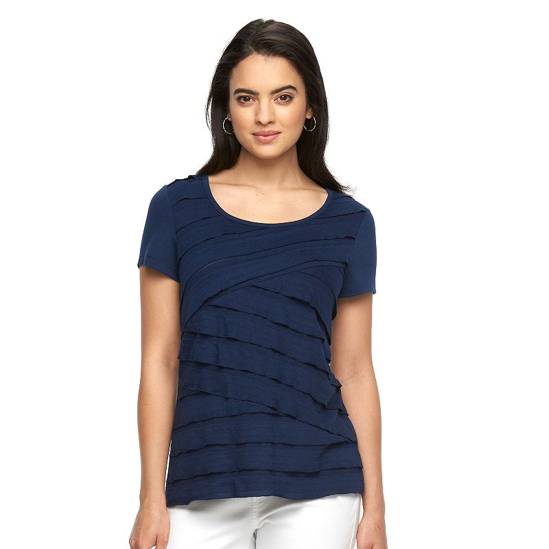 Women's AB Studio Asymmetrical Tiered Top
