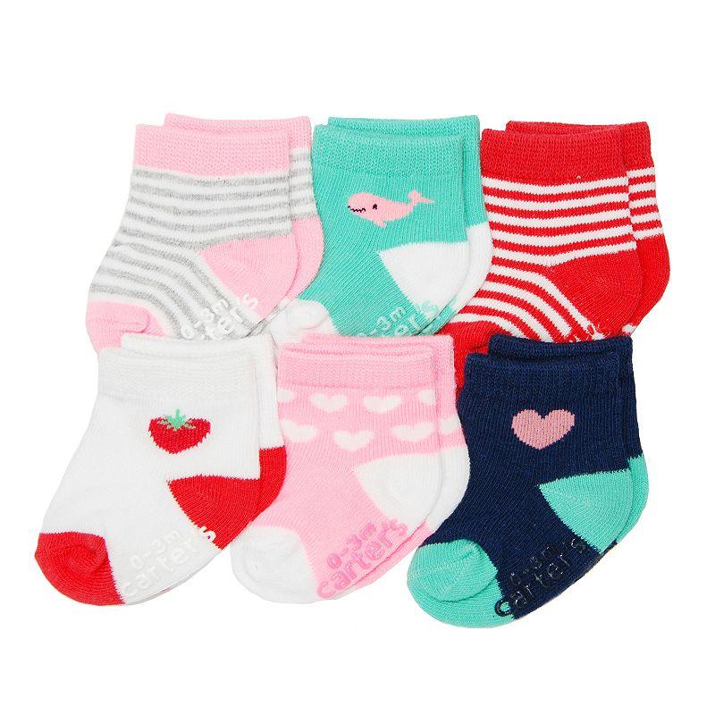 Baby Girls Carter's 6-pk. Pattern Socks