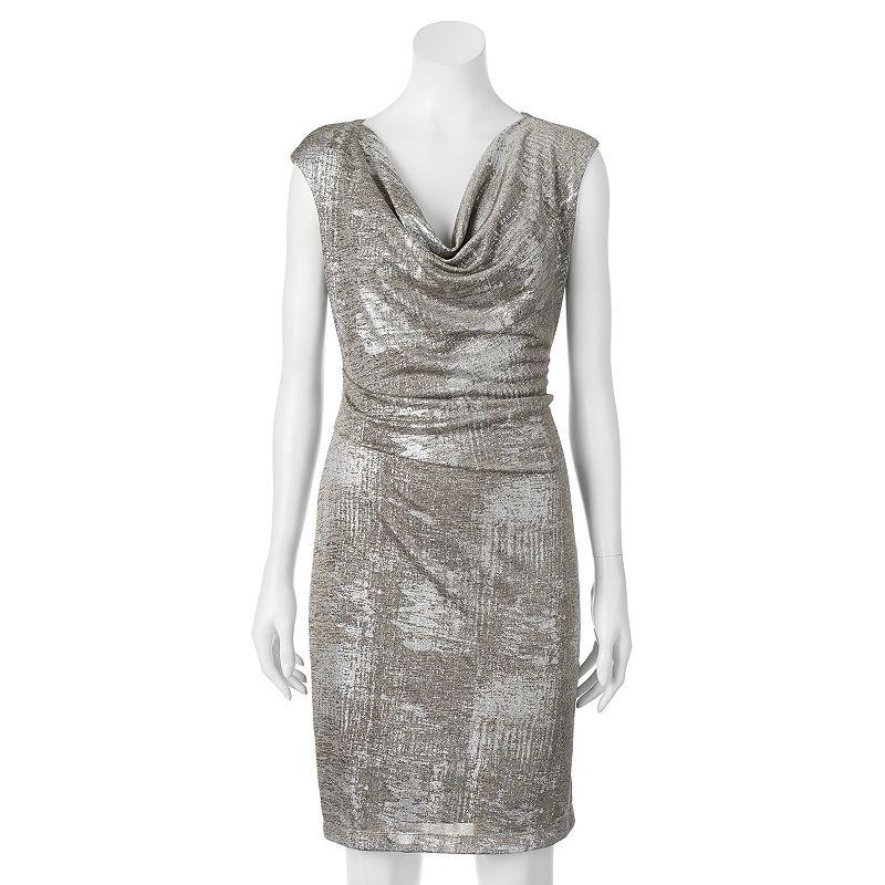 Women's Scarlett Drapeneck Sheath Dress