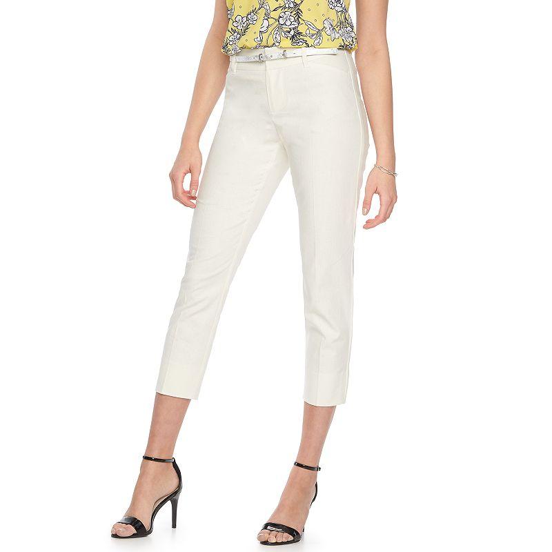 Women's ELLE™ Linen-Blend Ankle Pants