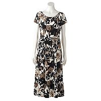 Women's Perceptions Abstract Floral Midi Dress