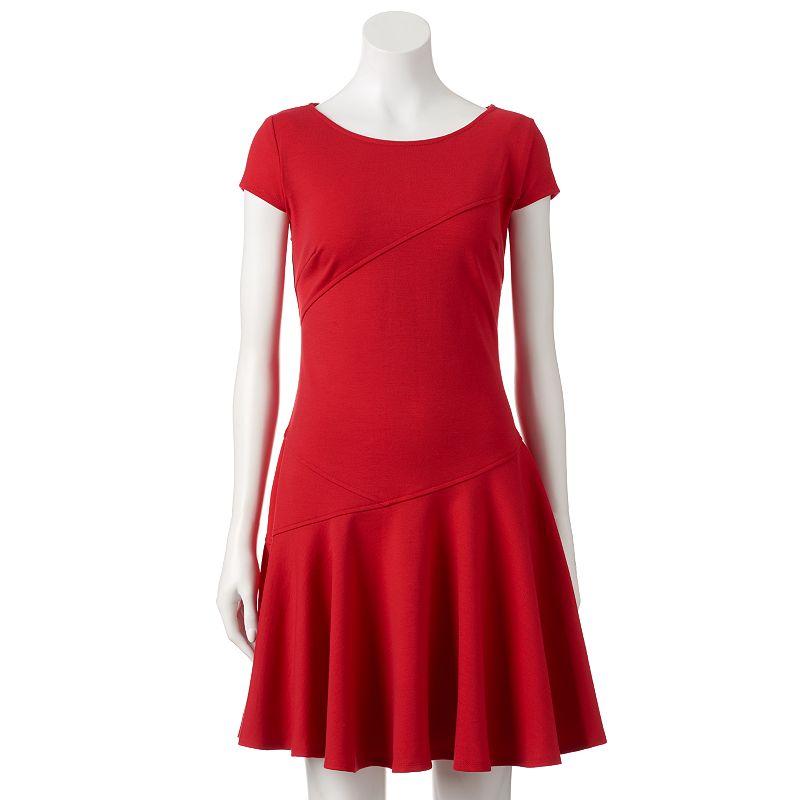 Women's Sharagano Ponte A-Line Dress