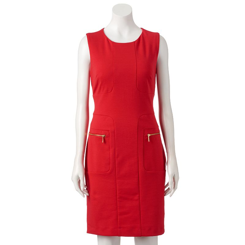 Women's Sharagano Ponte Sheath Dress