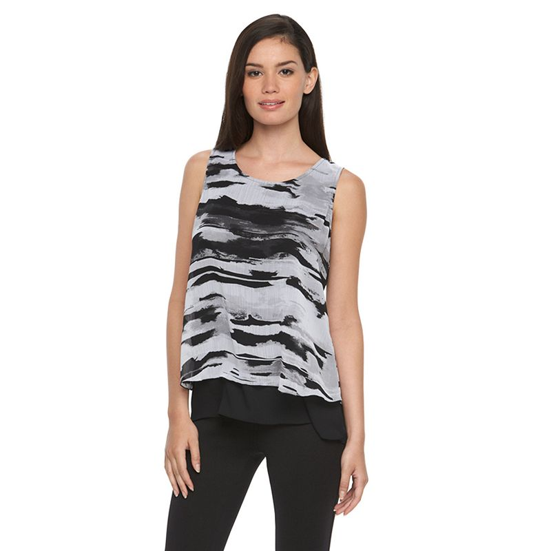 Women's Apt. 9® Mock-Layer Chiffon Tank