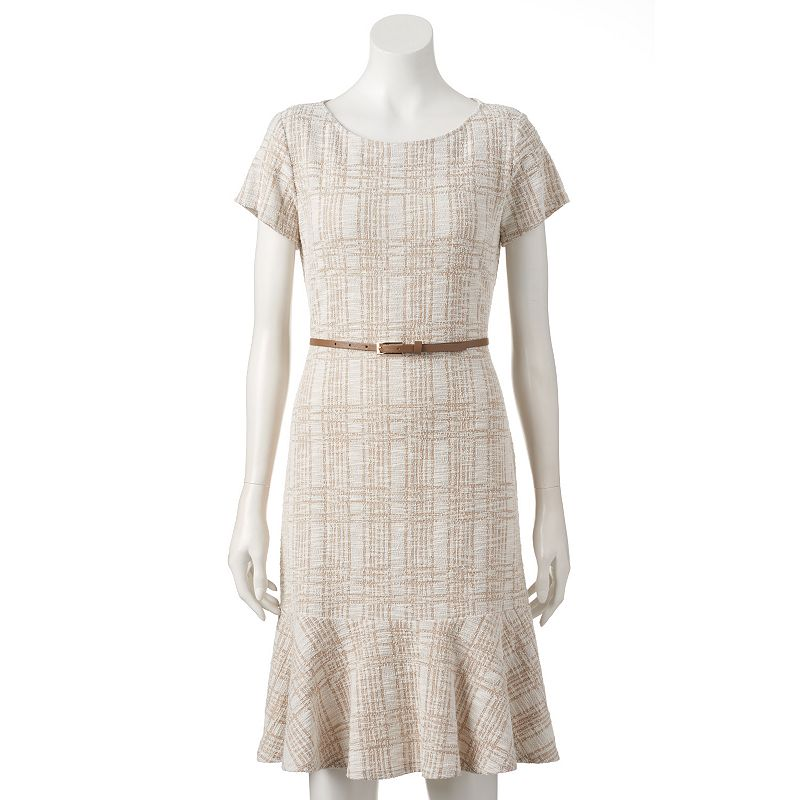 Women's Sharagano Boucle Fit & Flare Dress