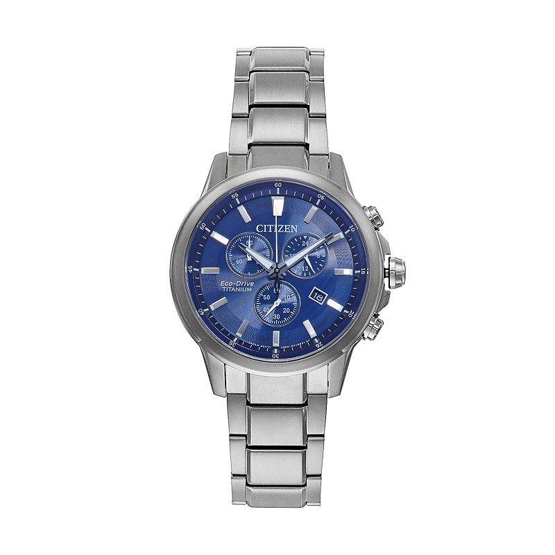 Citizen Eco-Drive Men's TI + IP Super Titanium Chronograph Watch