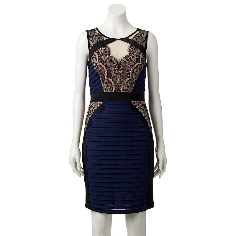 Women's Jax Illusion Lace Sheath Dress