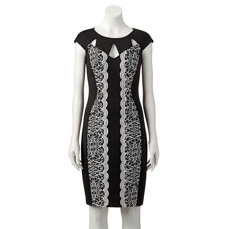 Women's Jax Cut-Out Scuba Sheath Dress