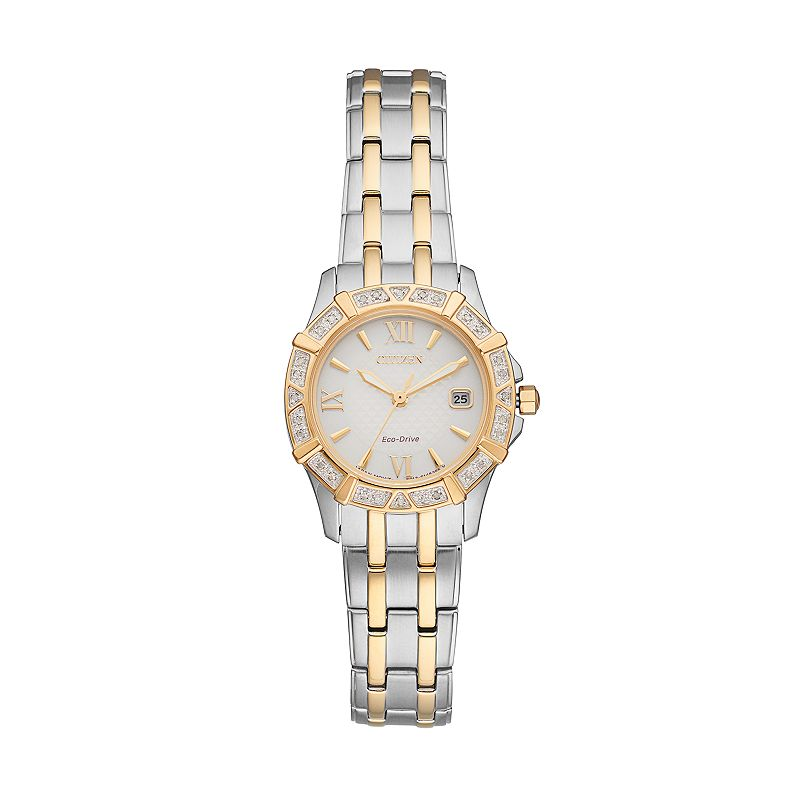 Citizen Eco-Drive Women's Diamond Stainless Steel Watch