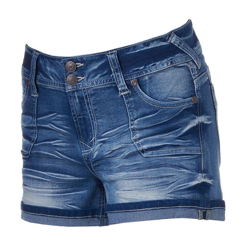 Juniors' Wallflower Luscious Curvy Whiskered Shortie Shorts