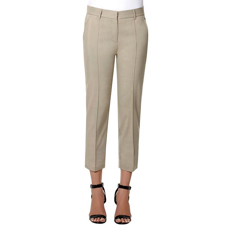 Women's Larry Levine Millennium Pintuck Crop Dress Pants