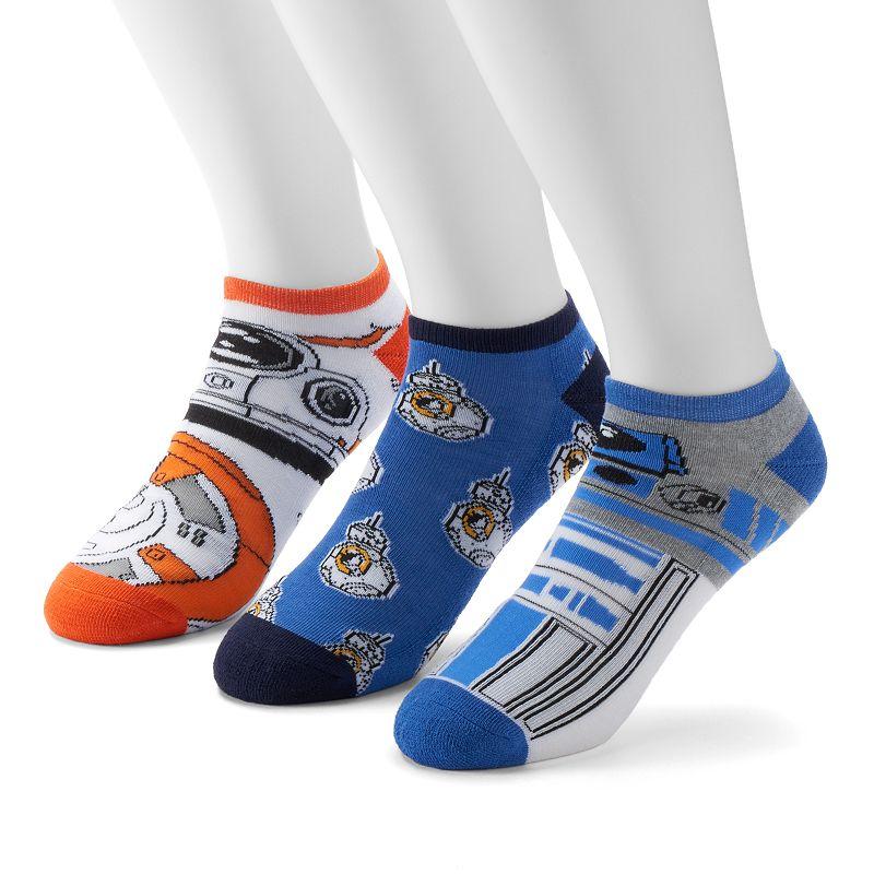 Men's 3-Pack Star Wars BB-8 & R2-D2 Low-Cut Athletic Socks
