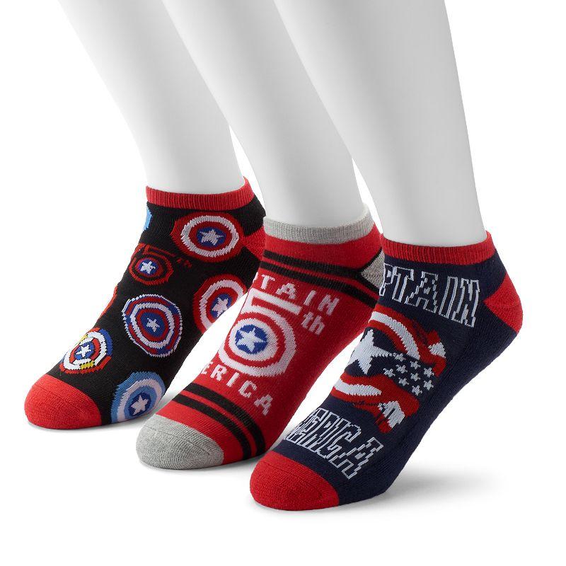Men's 3-Pack Marvel Captain America 75th Low-Cut Athletic Socks
