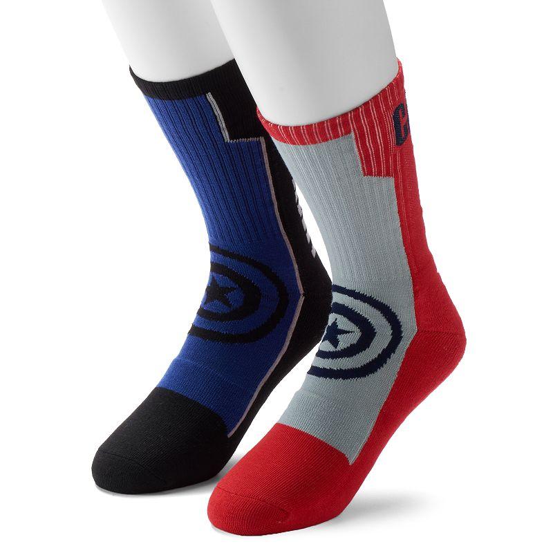 Men's 2-Pack Marvel Captain America 75th Athletic Crew Socks