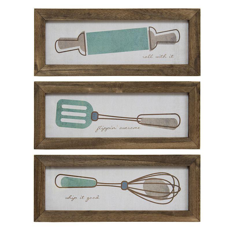 3 Piece Utensil Wall Décor Set : Stratton home decor quot whip it good utensil framed wall
