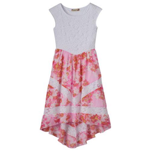 Girls 7-16 Speechless High-Low Flower Lace Dress