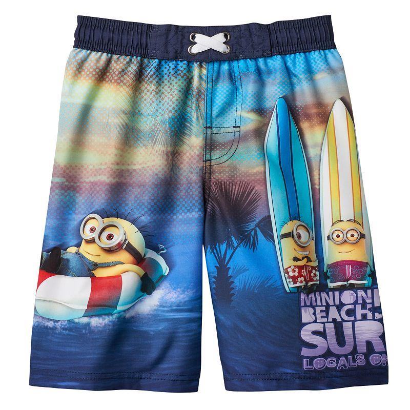 Boys 4-7 Despicable Me Surfer Minions Swim Trunks