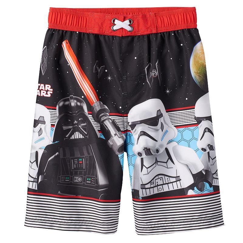 Boys 4-7 LEGO Star Wars Darth Vader & Stormtrooper Swim Trunks