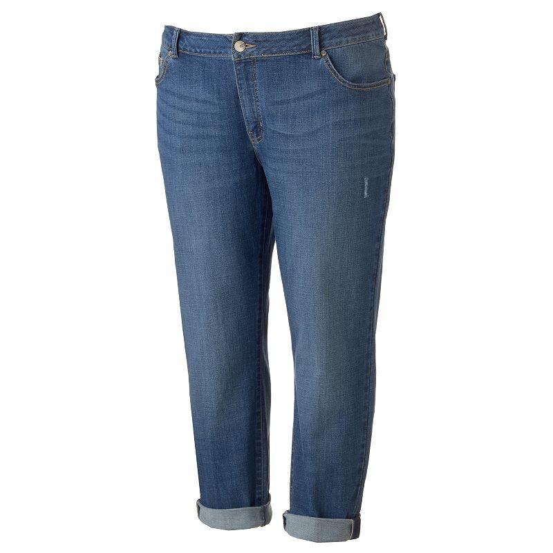 Plus Size Lee Curvy Fit Boyfriend Jeans