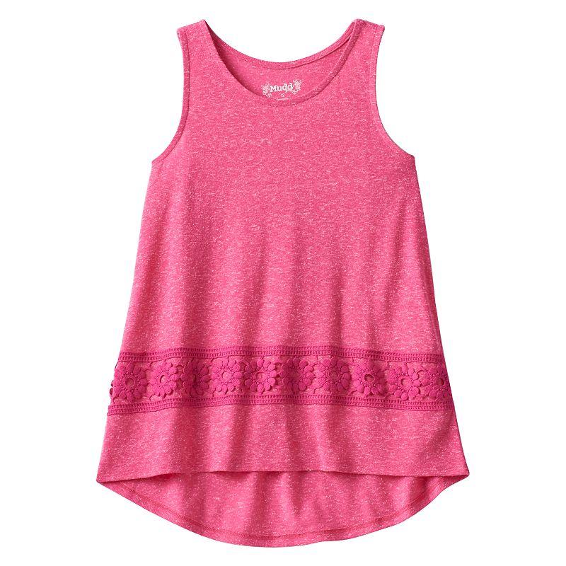 Girls 7-16 & Plus Size Mudd® High-Low Crochet Tank Top