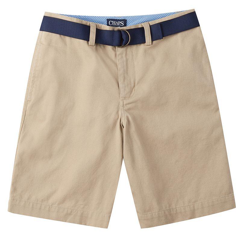 Boys 8-20 Chaps Flat-Front Chino Shorts