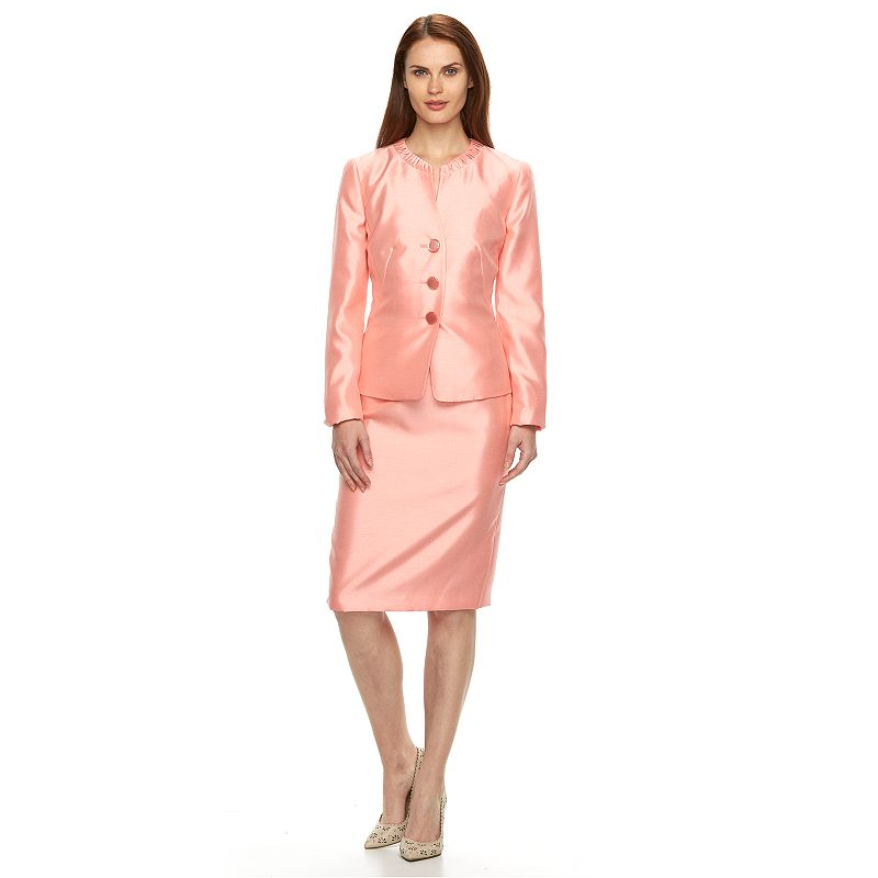 Women's Le Suit Shimmer Suit Jacket & Skirt Set
