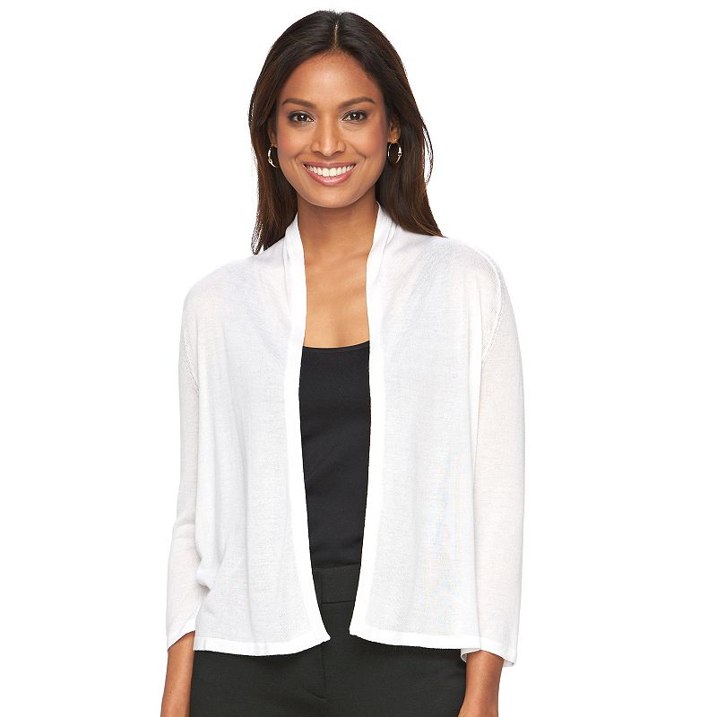 Women's Dana Buchman Ribbed Crop Cardigan