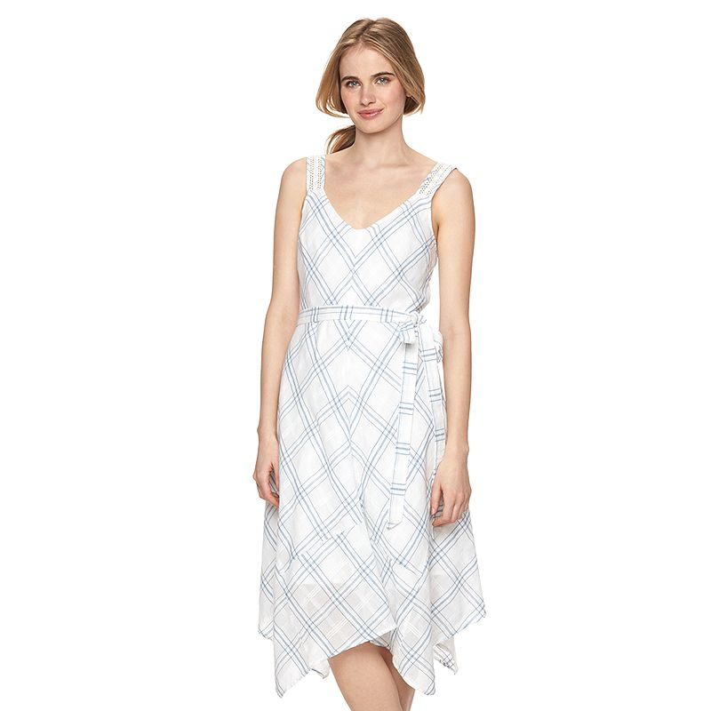Women's LC Lauren Conrad Plaid Handkerchief Midi Dress