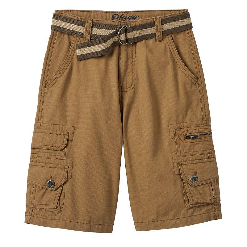 Boys 8-20 Plugg Trekker Micro-Rip Belted Cargo Shorts