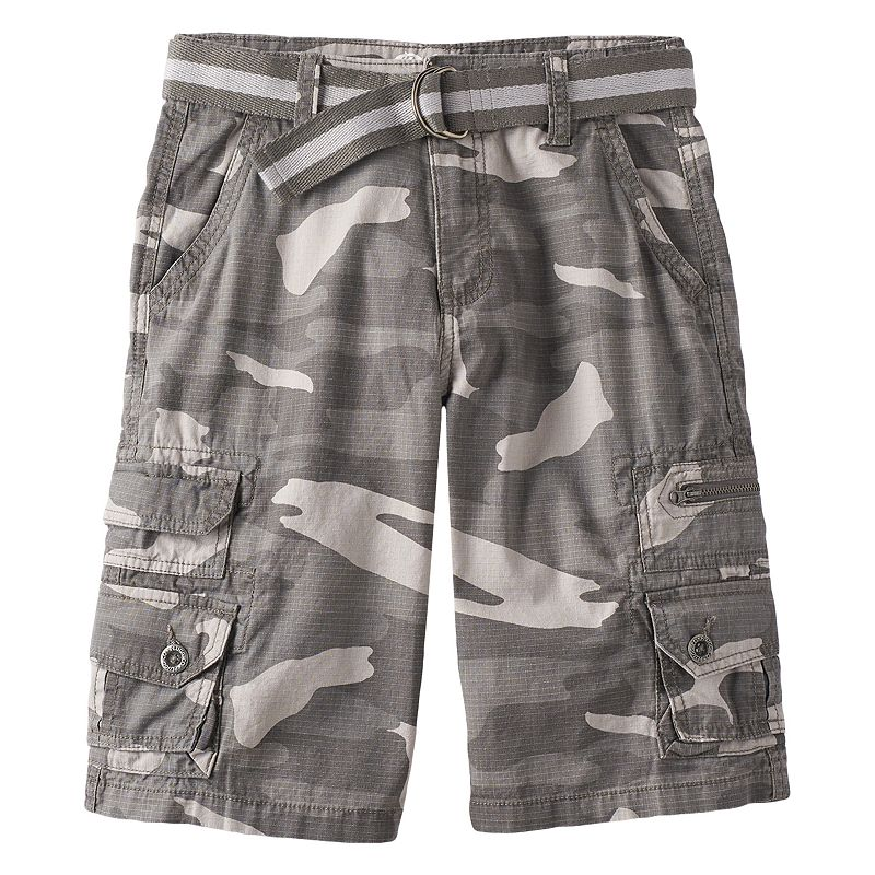 Boys 8-20 Plugg Trekker Micro-Rip Belted Cargo Shorts