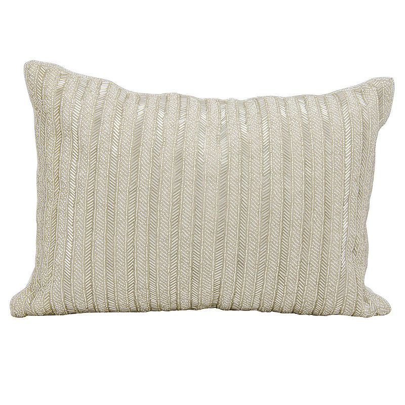 Mitchell Gold + Bob Williams Beaded Greek Key Pillow, 24