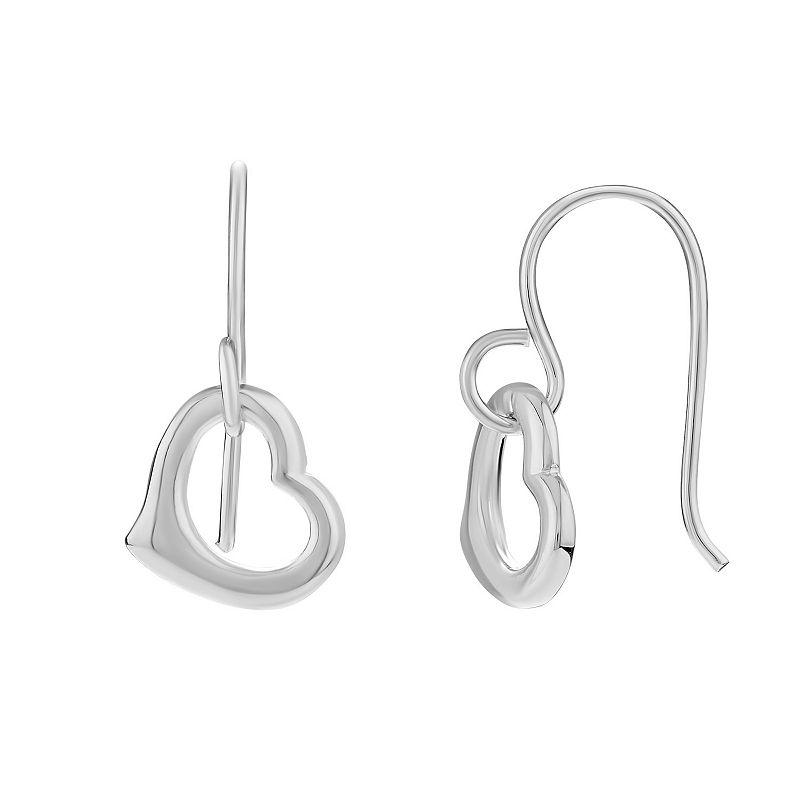 PRIMROSE Sterling Silver Heart Drop Earrings