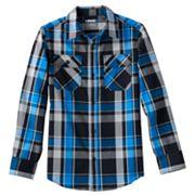 Boys 8-20 Tony Hawk® Poplin Plaid Button-Down Shirt