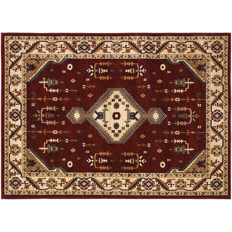 Couristan Anatolia Tribal Diamond Framed Floral Rug