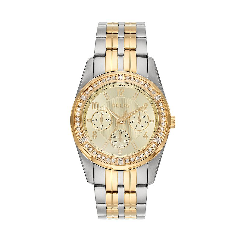 Relic Men's Rowan Crystal Two Tone Stainless Steel Watch