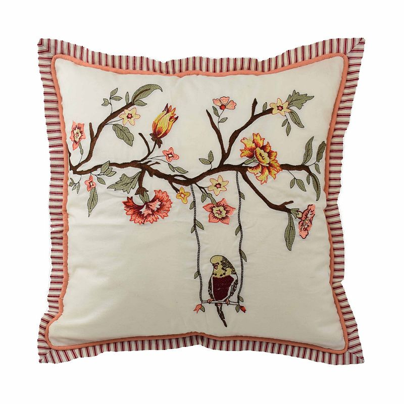 Waverly Retweet Embroidered Throw Pillow
